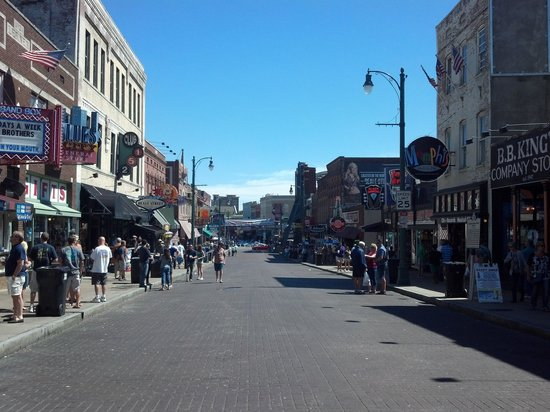 Beale Street: Looking down Beale