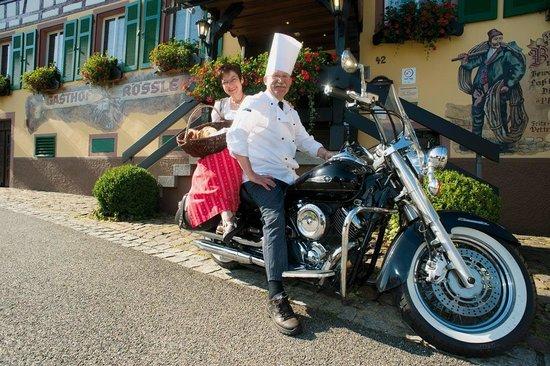 Hotel zum Weyssen Roessle: Biker welcome