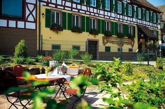 Hotel zum weyßen Rößle: unser Hotelgarten