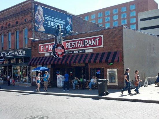 Beale Street: Flynn's Restaurant next to Schwab's General Store