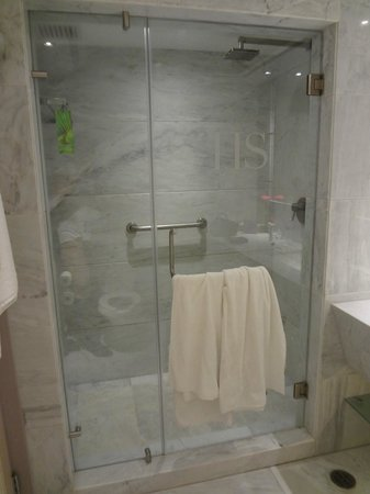 Hotsson Hotel : bagno zona doccia