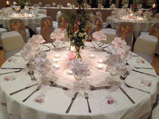 Best Western Ipswich hotel: Wedding setting in Ball Room