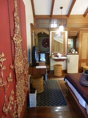 Sawasdee Village: our tiny but beautiful room; this is what you see when u enter