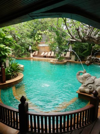 Sawasdee Village: the pool from my room (115); a bit too close for my personal liking