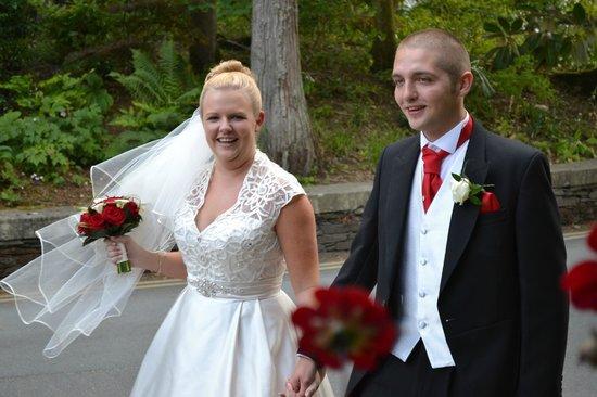 Lakeside Hotel: The happy couple