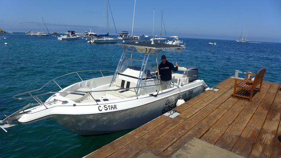 Catalina Coastal Tours & Fishing: Captain Dave and his boat