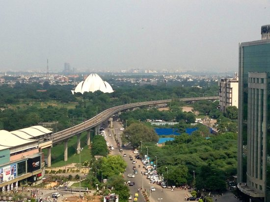 Eros Hotel: View towards Lotus Flower Temple from 10th Floor Room