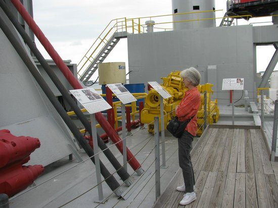Ocean Star Offshore Drilling Rig & Museum: Wife on Deck