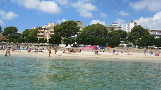 Hotel Tropico Playa: Отель Tropico, вид с моря