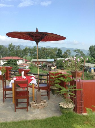 Inle Star Hotel : Rooftop breakfast @Inle Star Motel