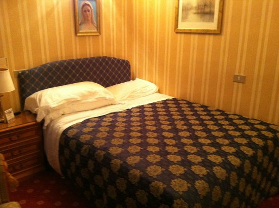 "Hotel Eliseo: This is the ""Jack"" sized bed - that's basically the entire room"