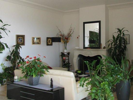 Maison d'Hôtes Bleu Azur : The livingroom (common)