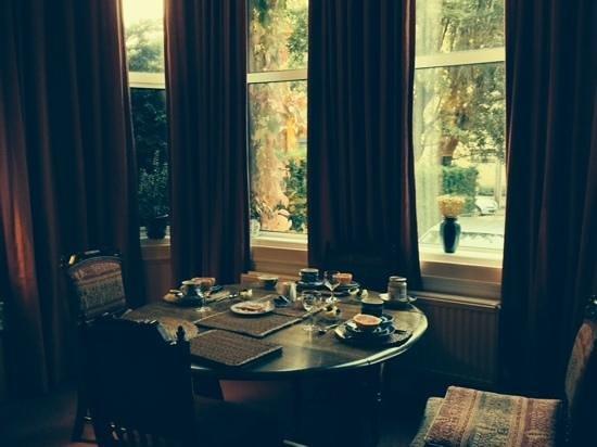 Elderfields Guest House : Our Breakfast table in the Loungeroom.