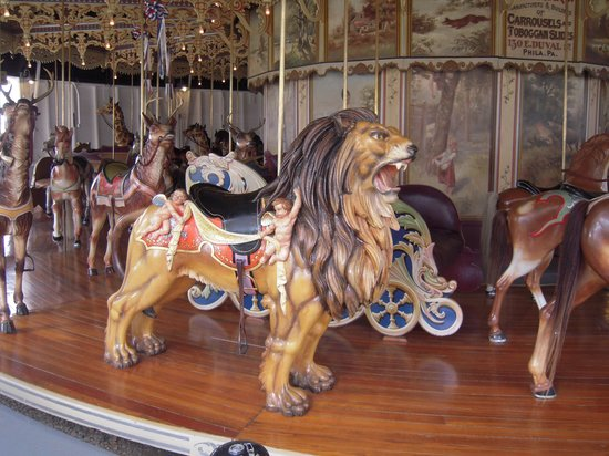 Kit Carson County Carousel: Lion at Kit Carson Fairgrounds Carousel