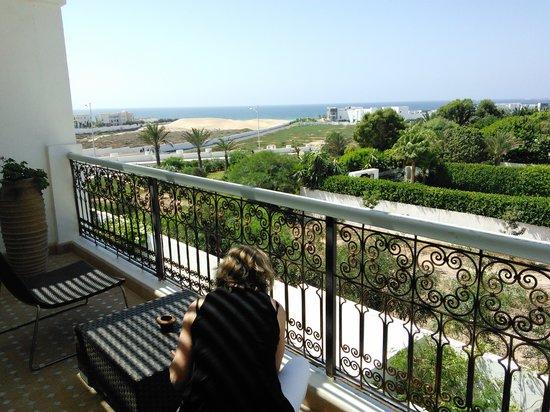 Riad Villa Blanche: the balcony view