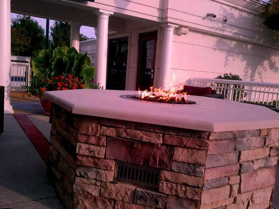 Hampton Inn Atlanta - Lawrenceville I-85 Sugarloaf: Fire pit outside of pool area / fitness center