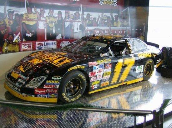 Matt Kenseth Racing Museum: This shot was taken days after Matt's 2007 Miami-Homestead winning car was brought in.