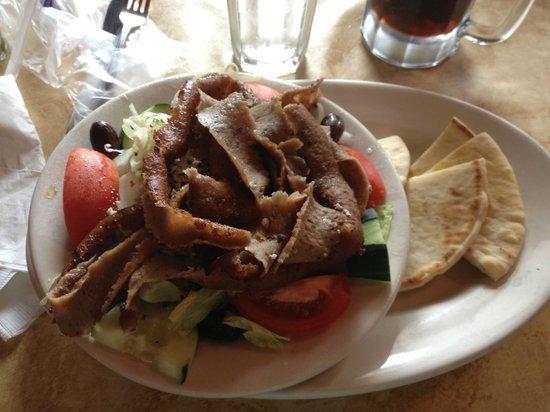 Greek Islands Restaurant INC : Chef salad with gyro meat