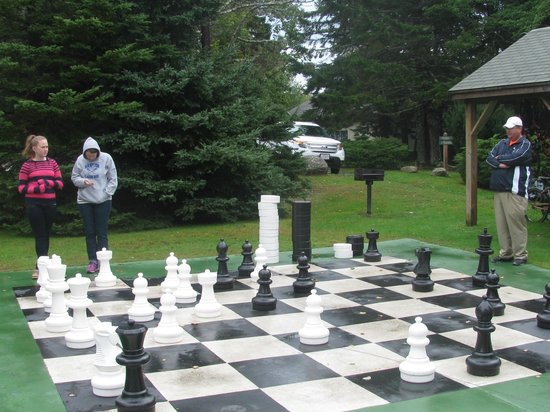 Spruce Point Inn Resort and Spa: chess match