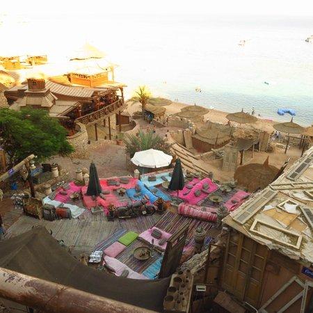 Farsha Café: Overlooks the red sea