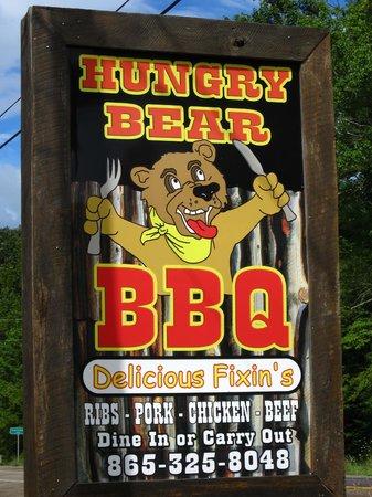 Hungry Bear BBQ # 1: Hungry Bear BBQ sign
