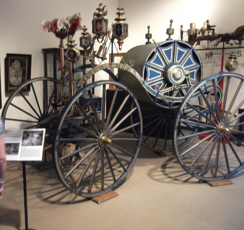 New York City Fire Museum : A rather showy 19th Century hose reel carriage for parades