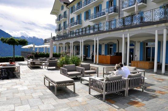 lounge auf der terrasse bild von villa honegg ennetb rgen tripadvisor. Black Bedroom Furniture Sets. Home Design Ideas