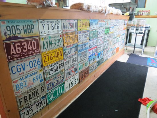 Rumford Center, ME: license plate display - random, but cool