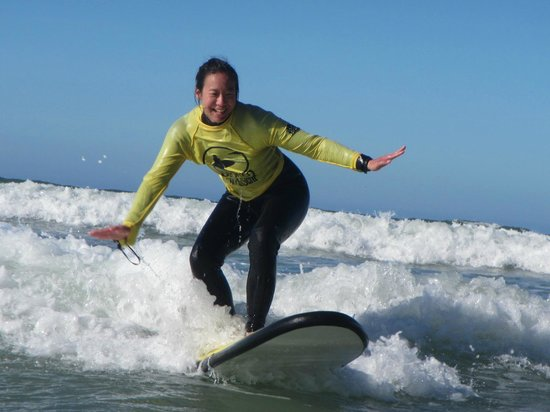Stoked School of Surf Lessons & Surf Trips: Caught my first wave!