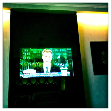 Hilton Lima Miraflores: The huge TV screen