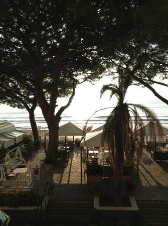 Grand Hotel Spiaggia: early morning view from room.