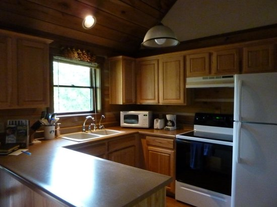 Cabins & Candlelight: kitchen area- well stocked