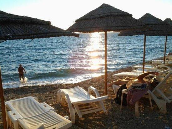 Hotel Maestral: Plaża hotelu