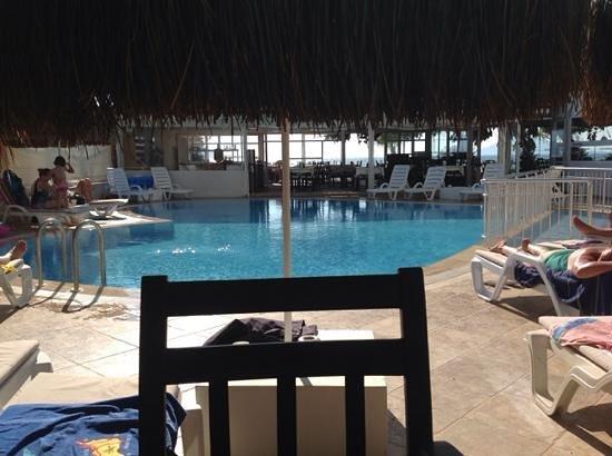 Manas Park Calis: view out to sea via the restaurant
