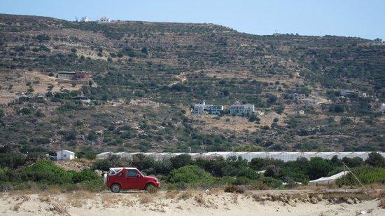Roubini Hotel - Apartments: Roubini Hotel from the beach