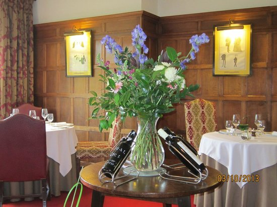 Gidleigh Park Restaurant: The delightful dining room.