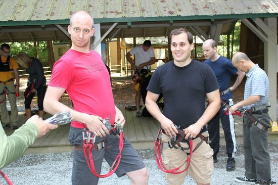 WildPlay Element Parks Maple Ridge: The harnesses were definitely the sexiest part of the day!