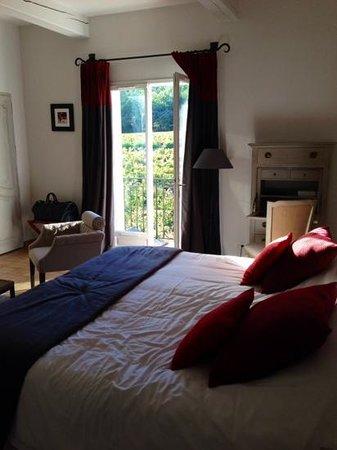 Chateau de Berne: notre chambre vue sur les vignes