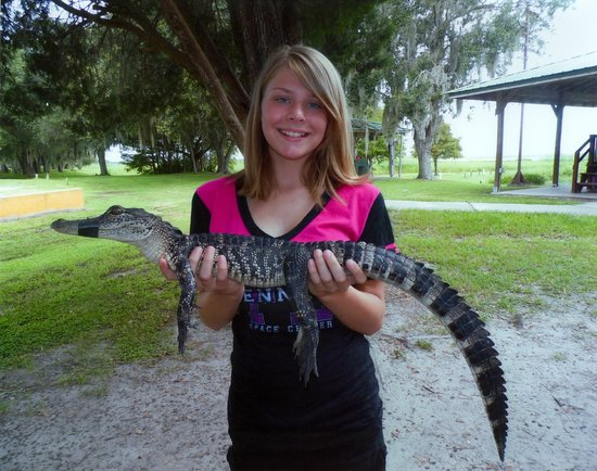 Boggy Creek Airboat Rides: Of course we bought a photo!