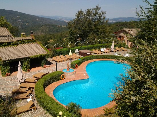 Hotel Prategiano - Maremma Toscana: la piscina dall'alto