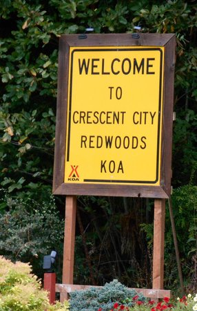 KOA Campground Crescent City : Sign at entrance