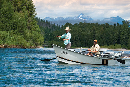 drift boat fishing on flathead lake picture of glacier