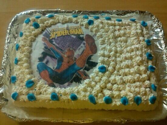Bagni Italia Albenga: torta di compleanno spiderman