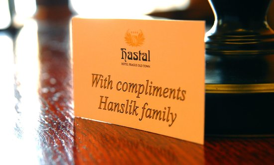 Hotel Hastal Prague Old Town: Family Hanslik welcome you in the Hotel Hastal
