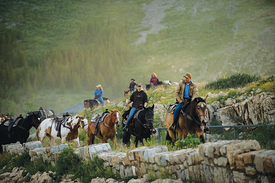 Glacier National Park, MT: Swan Mountain Outfitters on a Trail Ride in Glacier