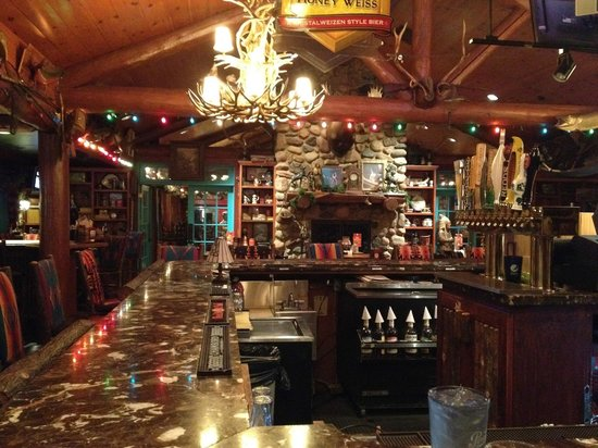 The bar area at The Original Famous Dave's