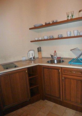 Krakow For You Apartments: Brass room - kitchenette