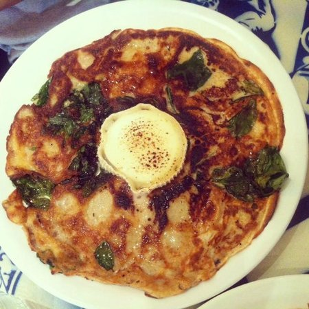 PANCAKES Amsterdam Negen Straatjes: Spinach and goats cheese- Divine!