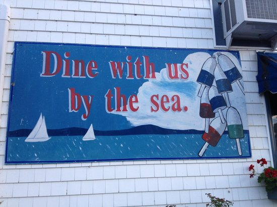 Chart Room: Mural on the side of the building