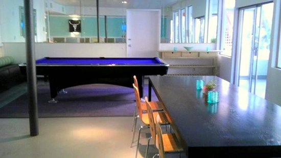 Snooker table at the Kafe Bar